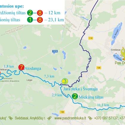 Maršrutai Šventosios upe